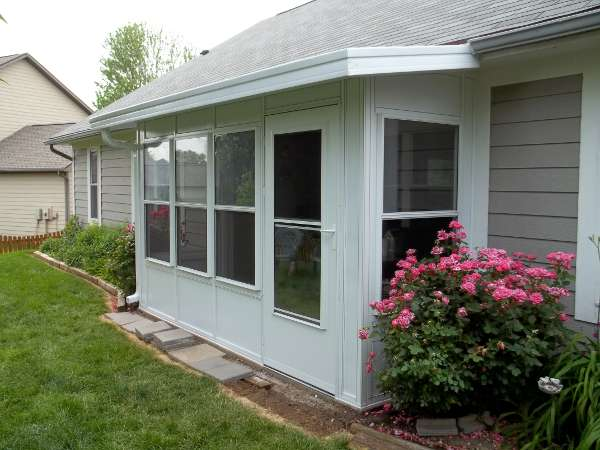 Dacraft dayton ohio residential products patio for Mobile home enclosed porch