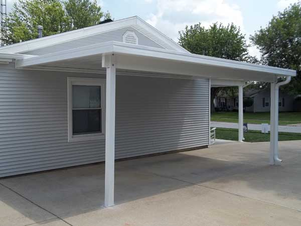 Dacraft dayton ohio residential products car ports for Carport with storage shed attached